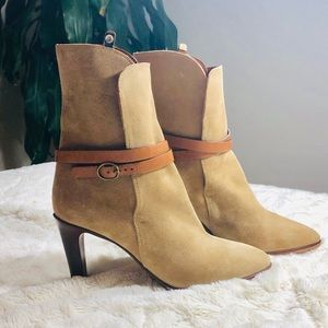 🥂HP🥂NWOT! Chloe Fold Over Suede Ankle Boots